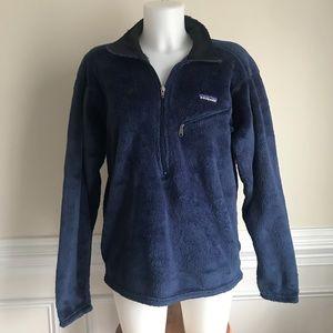 PATAGONIA blue fleece 1/2 zip sweater